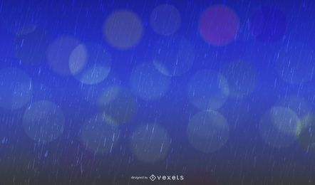 Gota de lluvia realista con textura de fondo azul