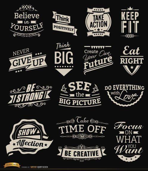 Motivational Vintage badges
