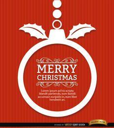 Weihnachtskugel wünscht roten Hintergrund