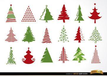 18 iconos de arbol de navidad