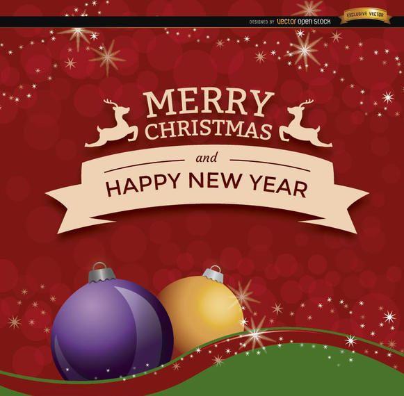 christmas new year ribbon background