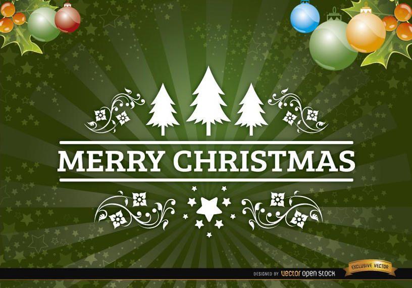 Christmas radial stripes swirls background