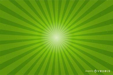 Fundo verde brilhante do Sunburst