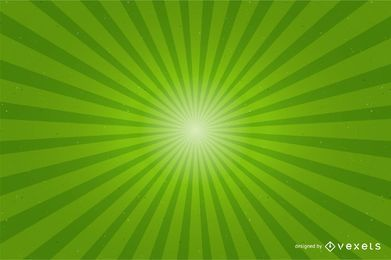 Shiny Green Sunburst Background