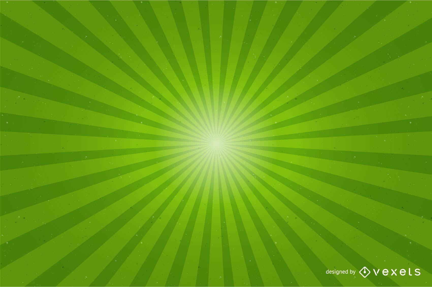 Fondo verde brillante Sunburst