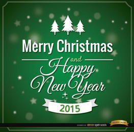 Mensaje de tarjeta de feliz navidad verde