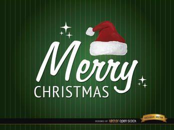Chapéu de Natal feliz e texto