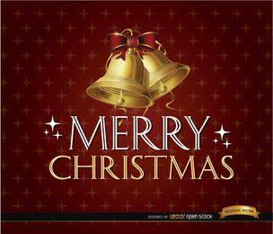 Feliz Natal reluz o fundo de sinos