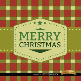 Fondo de cuadrados de feliz navidad