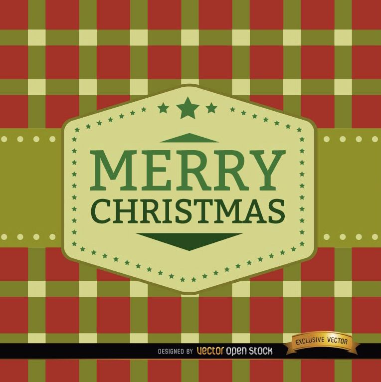 Merry Christmas squares background