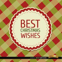 Weihnachten wünscht Rautenhintergrund