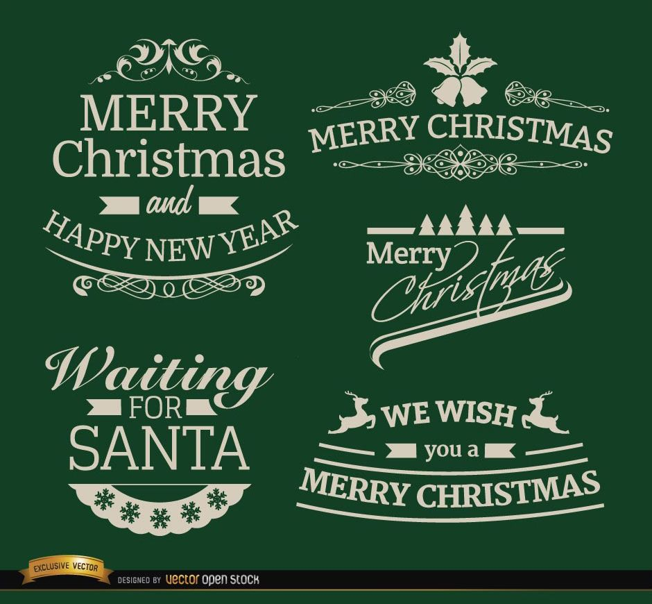 5 Elegant Christmas labels