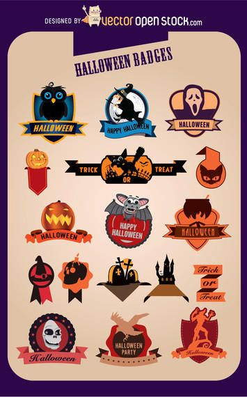 17 Halloween Creative Badges