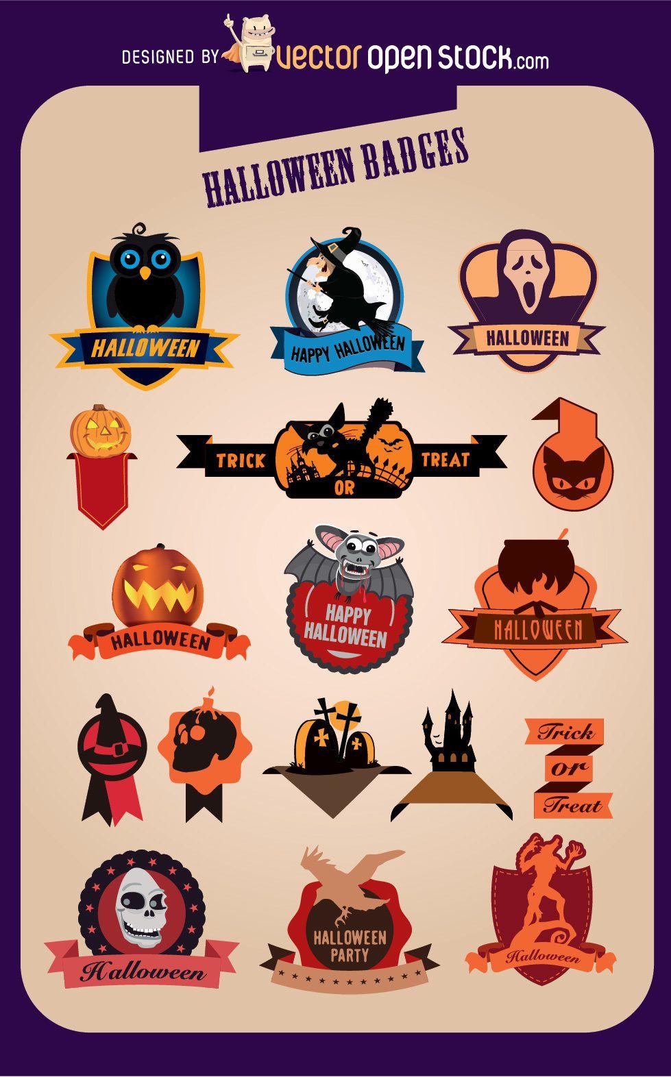 17 Halloween Creative Badges