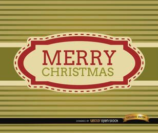 Merry Christmas stripes riband card