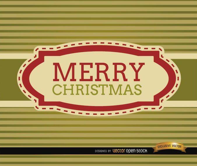 Merry Christmas stripes riband card