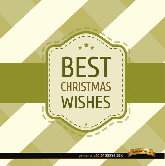 Christmas wishes stripes riband card