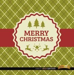 Cartão de rótulo de fita de Natal