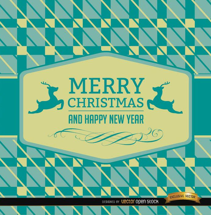 Christmas reindeer card abstract background