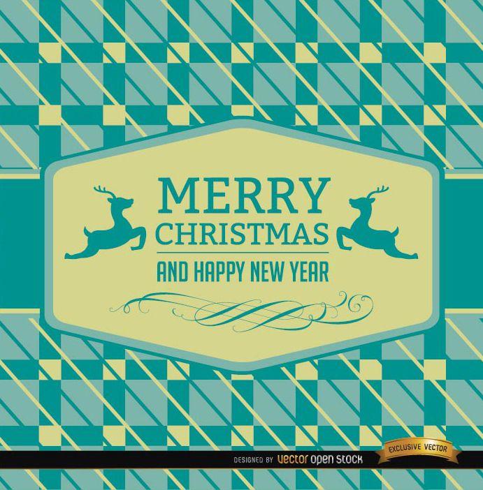 Fondo abstracto de tarjeta de renos de Navidad