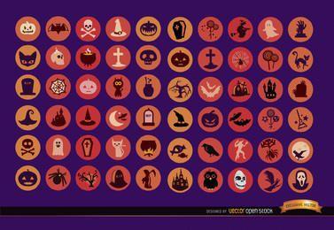 60 iconos de halloween