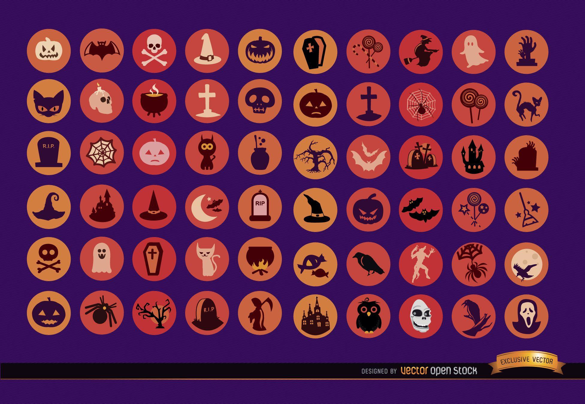 60 Halloween Icons
