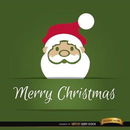 Tarjeta de navidad cabeza de santa claus