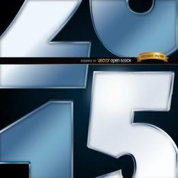 Número 2015 fundo da vista próxima
