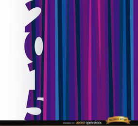 Fondo azul púrpura vertical de 2015 barras