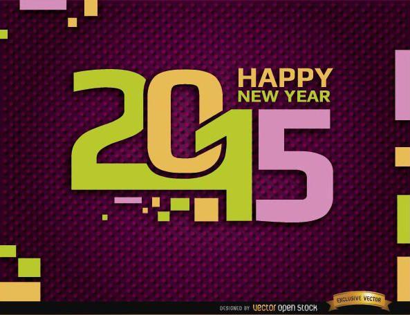Happy 2015 year retro background