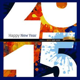 Feliz 2015 grunge perto vista fundo