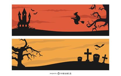 Creepy Halloween Header Banner Pack