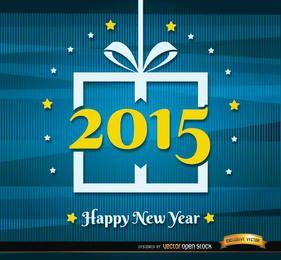 Fundo de linhas abstratas de ano novo de 2015