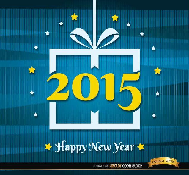 Fondo de líneas abstractas de año nuevo 2015