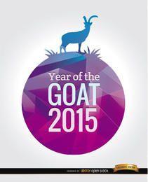 2015 Jahr des Ziegenmotivs