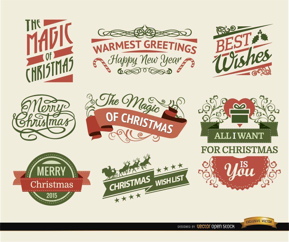 8 cintas y etiquetas navideñas