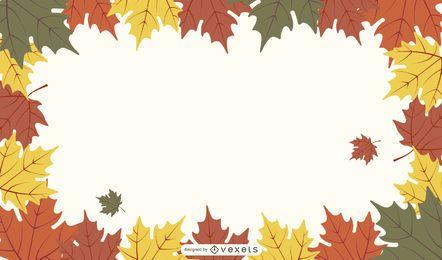 Caída de otoño hojas marco y paquete de fondo