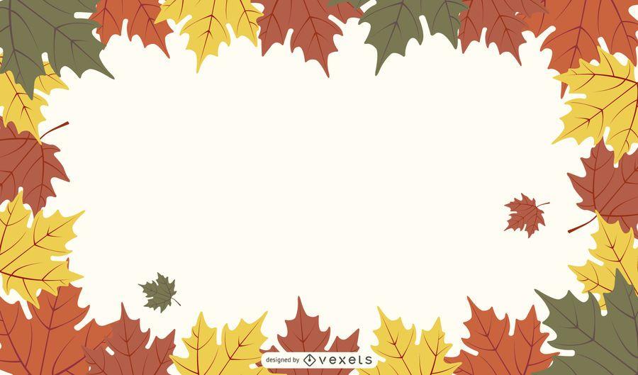 Fallen Autumn Leaves Frame & Background Pack