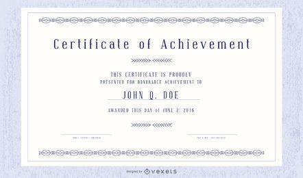 Certificado decorativo y paquete de plantillas de credenciales