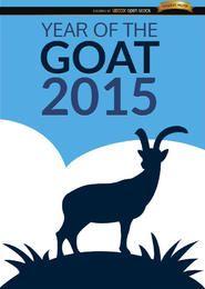 Ano de 2015 do cartaz de cabra
