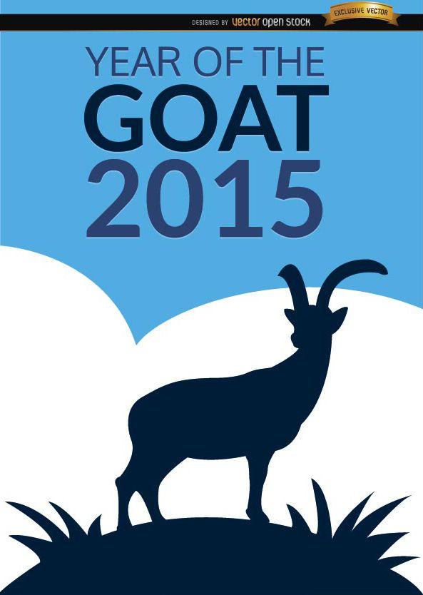 Cartel del año 2015 de la cabra