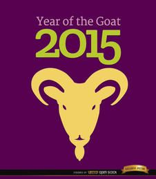 Fondo año 2015 de cabeza de cabra