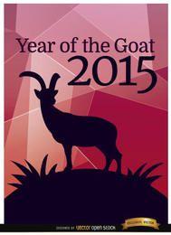 2015-jähriges Ziegenpolygonplakat