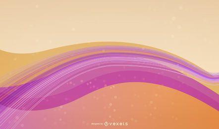 Olas de colores brillantes y fondo de líneas de espiral