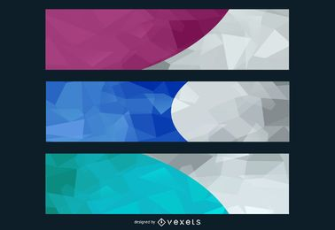 Paquete de fondo de banner ancho creativo abstracto