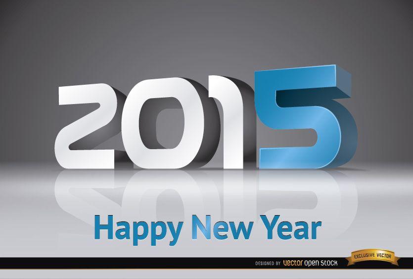 Fondo de número moderno de año nuevo 2015