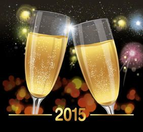 Fundo do brinde da celebração de 2015