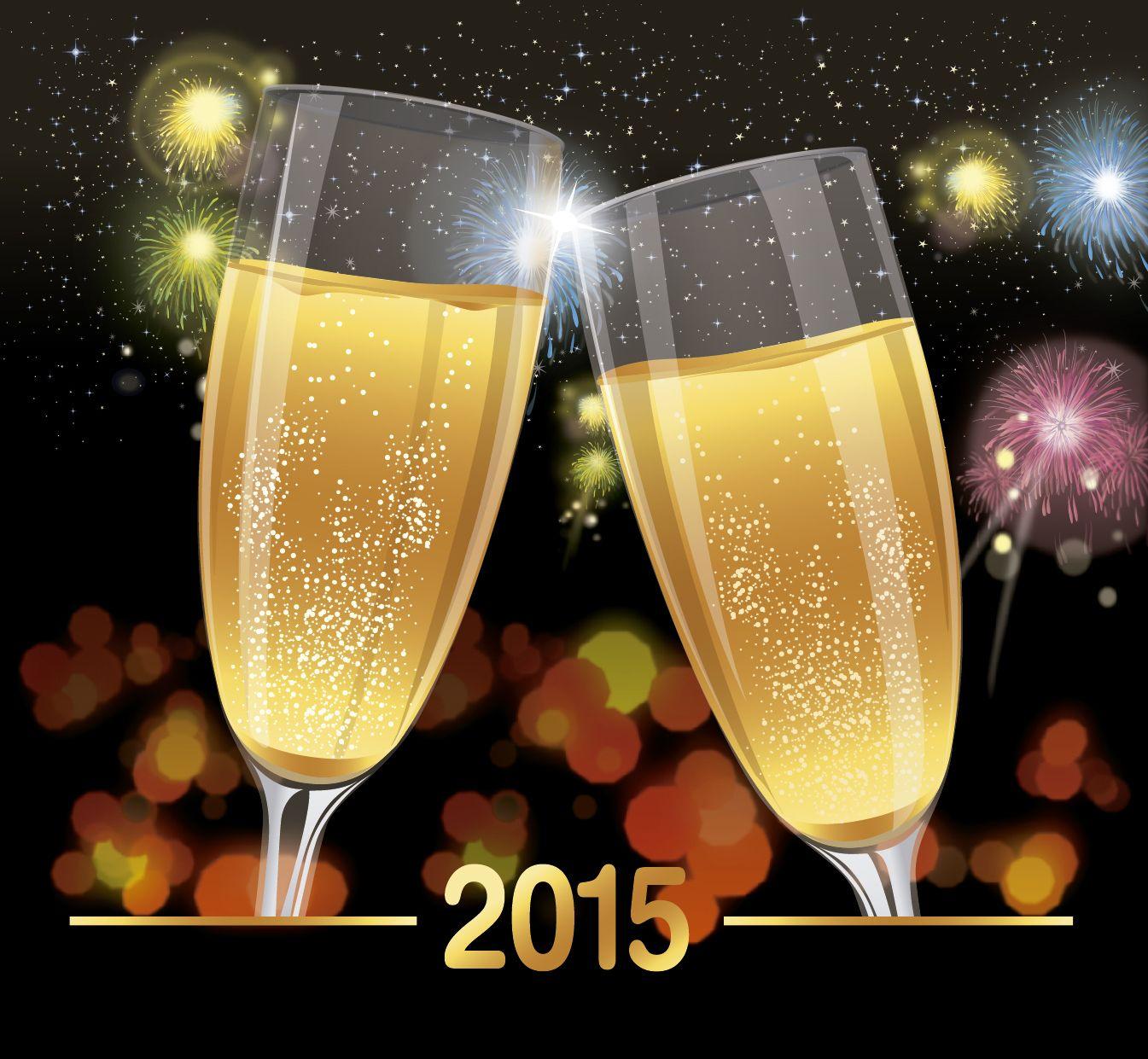 Fondo de brindis de celebraci?n 2015