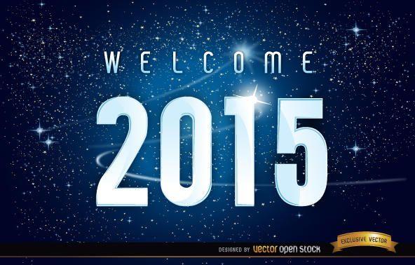 Fundo de estrelas do espaço de 2015