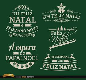 5 Elegant Christmas labels Portuguese